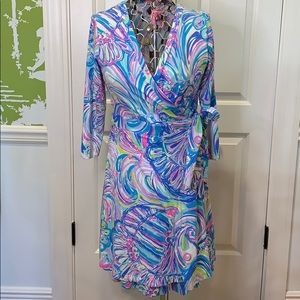 3/4 sleeve Lilly Pulitzer wrap dress